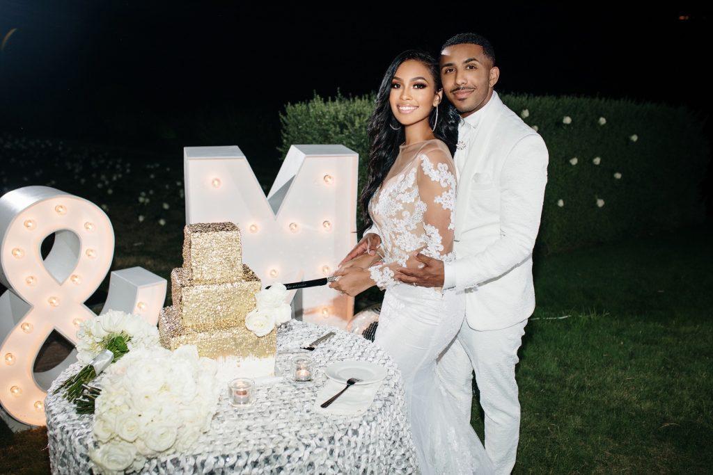 Marques Houston & Miyana Houston Cutting The Cake - Chris Stokes Blog